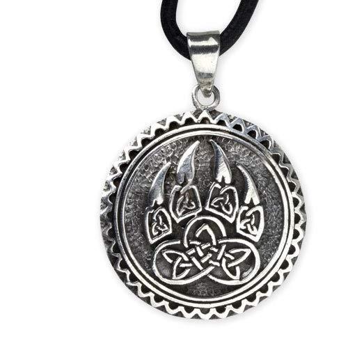 etNox Keltischer Knoten Keltisches Amulett Anhänger Celtic Talisman Bärentatze