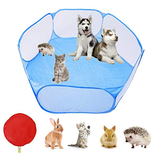 AIM Cloudbed Kleine Dieren Tent Opvouwbare Dierenkooi Tenten Ademende Transparante Huisdier Oefening Hek Draagbare Yard Hek Cage Tent voor Guinea Varken Konijnen Hamster