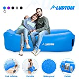 LUDTOM Inflatable Lounger Air Sofa Hammock, Portable Waterproof Anti-Air Leaking Pouch Couch Beach Chair Camping Accessories for Travel, Parties, Camping, Picnics, Hiking, Pool and Festival
