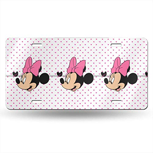 Suzanne Betty Aluminum License Plates - Minnie Heart License Plate Tag Car Accessories 12 X 6 Inches