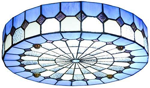 Wtbew-u Lámpara de techo, lámpara de techo estilo luz de baño, mediterráneo, luces de techo redondas LED Mediterráneo, decoración de montaje empotrado para sala de estar