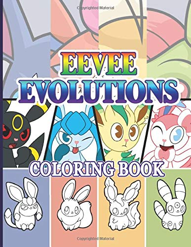 Eevee Evolutions Coloring Book: Eevee Evolutions Featuring Enchanting Adult Coloring Books For Men And Women With Newest Unofficial Images