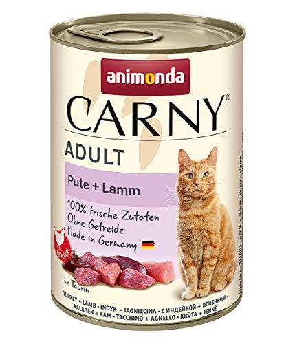 animonda Carny Adult Katzenfutter, Nassfutter für ausgewachsene Katzen, Pute + Lamm, 6 x 400 g