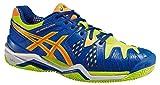 Asics – Gel-Resolution 6 Clay, Zapatillas de Tenis para hombre (Azul/Amarillo) (47 EU)