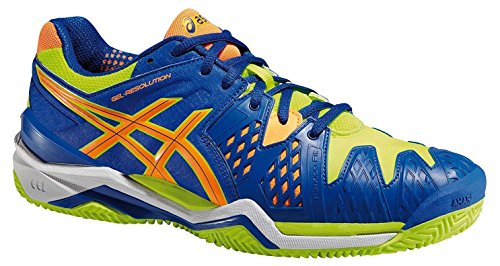 Asics – Gel-Resolution 6 Clay, Zapatillas de Tenis para hombre (Azul/Amarillo)