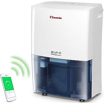 Inventor Eva II PRO WiFi, Deumidificatore Portatile (capacità di deumidificazione 20L/24h - Adatto Fino 70m2), Connessione WiFi, Deumidificazione Intelligente, Asciugabiancheria.