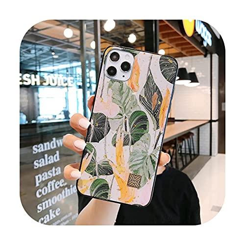 Funda de teléfono con purpurina floral para iPhone 12 11 X XS 7 8 6 Plus Pro Max para iPhone 12Pro Max