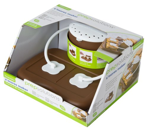 Progressive Prep Solutions PS-68BR Microwave S'mores Maker, Brown/White