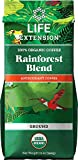 Life Extension Rainforest Blend (Ground) Coffee, Natural, 12 Ounce