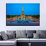 GJQFJBS HD Print Canvas Living Room Picture Starry Sky Landscape Wall Art Poster Decoración del hogar A3 50x70cm