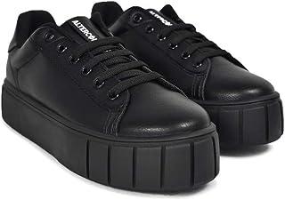 Altercore Kirh Zapatos Deportivos Mujer Negro Vegan Plataforma
