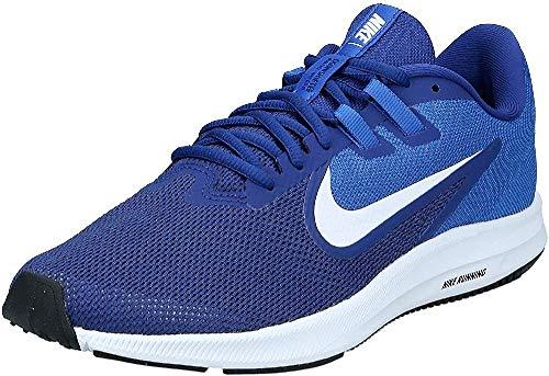 Nike Downshifter 9, Zapatillas de Running para Asfalto Hombre, Multicolor (Deep Royal Blue/White/Game Royal/Black 400), 44.5 EU