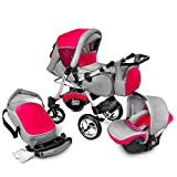 Buggie Urbano Red Zone | 3-in-1-System | Kinderwagen,...