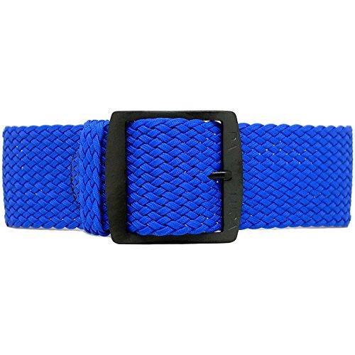 DaLuca Perlon, cinturino in Nylon, colore: blu, rivestimento in nitruro di...