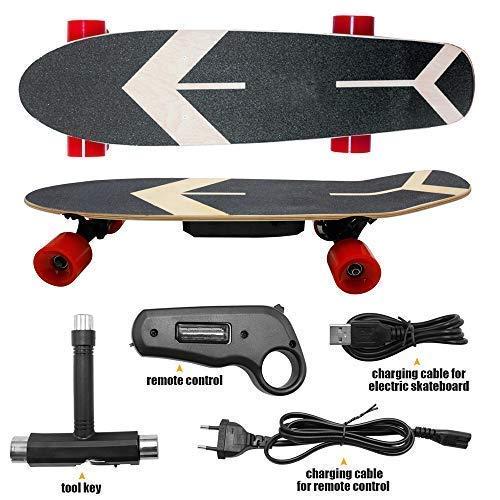 Blue-idea Skateboard Elettrico a Quattro Ruote con Telecomando, Adatto per...