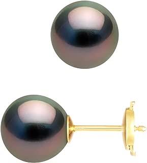 BLANC naturel perle Boucles d/'oreilles Femme Fille 925 Argent Sterling Or Rivets /< PROMOTION /> 80 $