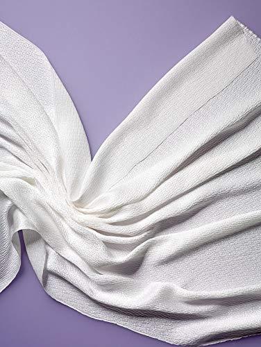 30% Rabatt ++ Meterware, ab 0,5 m ++ Crinkle Crêpe 18 ++ reine Seide ++ weiß ++ 95 cm breit ++ € 33,16/qm