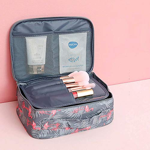 CHENSQ Bolsa de cosméticos impermeable bolsa de cosméticos bolsa de inodoro bolsa portátil cremallera maleta para artículos de papelería bolsa de almacenamiento de cosméticos