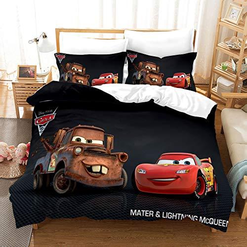Probuk Ropa de cama infantil de Disney Pixar, 100 % microfibra, ropa de cama para bebés y adolescentes, funda de almohada (A-05,135 x 200 cm (50 x 75 cm)