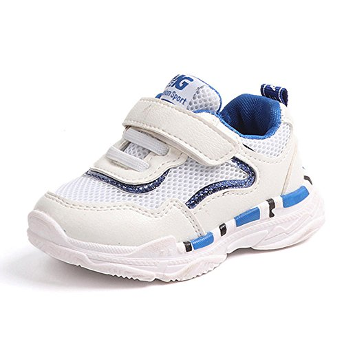 Zapatos planos Niños OnSale, Zapatos de bebé Niños pequeños Niños Niños Niñas Zapatillas de deporte casuales Malla Suave Running Letter Azul 3.5-4 años, Zapatos de bebé Recién nacido