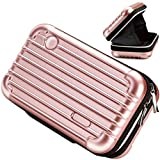 U5 Cosmetic Bag, Handbag Cases Organizer Carrying Hard Bags for Toiletry Beauty Makeup Electronic Accessories Overnight Travel with Zipper Inner Pocket Water Resistant Crashproof - Rose Gold