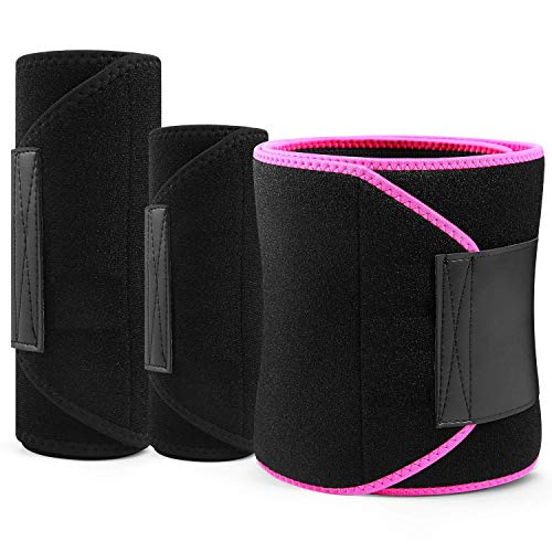 Cloudeal Sweat Slim Belt Neoprene Fat Burning Sauna Waist Trainer – Promotes Healthy Sweat, Weight Loss, Lower Back Posture(1 pic) (Rose Red)