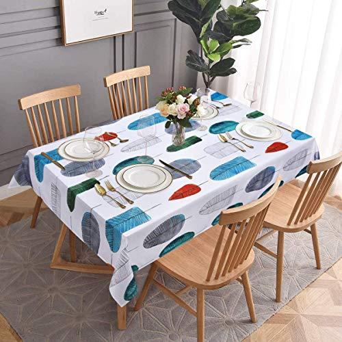 XXDD Mantel de Estilo Minimalista Moderno nórdico Color Hoja Estilo Minimalista Mantel Impermeable Moderno para Cocina Restaurante A1 150x210cm