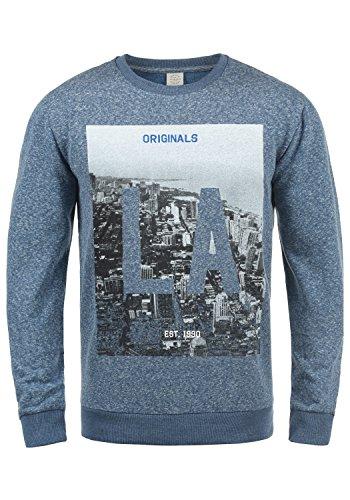 JACK & JONES Originals Photosnow Herren Sweatshirt Pullover Pulli Mit Rundhalsausschnitt, Größe:XXL, Farbe:Vintage Indigo