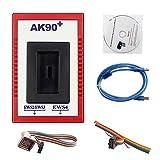 Carrfan Herramienta de Programador de Llave automática AK90 + V3.19 Profesional Herramienta de Diagnóstico de Coincidencia para BMW EWS AK90 con Kit de Programación de Cable Llaves de Identificación