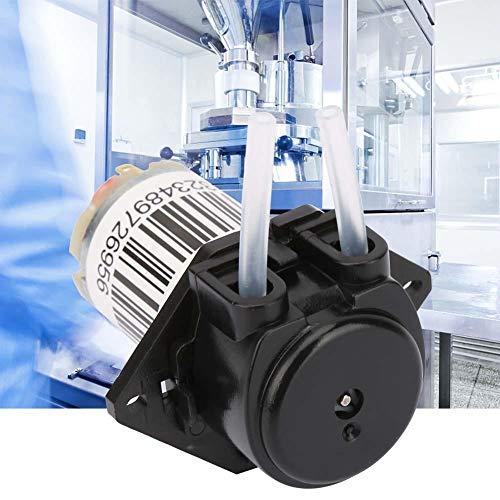 Naroote Miniaturwasserpumpe, 6V Miniatur Schlauchpumpe Titration DC Selbstansaugende Pumpe(Flachschwarz)