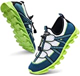 ANLUKE Men's Athletic Road Running Walking Shoes Breathable Lightweight Blade Type Fashion Sneakers 1912Green 40