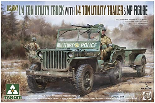 TAKOM TAK2126 2126 1/35 Jeep + Trailer & MP Figur