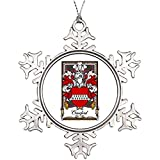 Cheyan Tree Branch Decoration Multiple Crawford Family Crest Cool Snowflake Ornaments