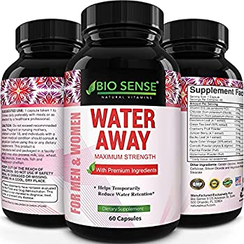 Natural Diuretic Water Away Pills Vitamin B6 Potassium & Dandelion Root Extract Water Retention Anti-Bloating and Swelling Capsules Weight Loss for Women & Men with Antioxidant Green Tea by Bio Sense
