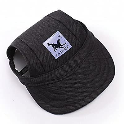 Pet Dog Cat Canvas Polyester Hat Sports Baseball Cap with Ear Holes for Dogs Puppy 10Colors 2Sizes