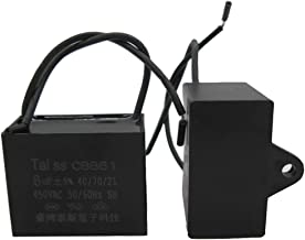 2pcs CBB61 Celiling Fan Capacitor for New TECH 2 Wire 8UF 450V (2pcs - 8uf)