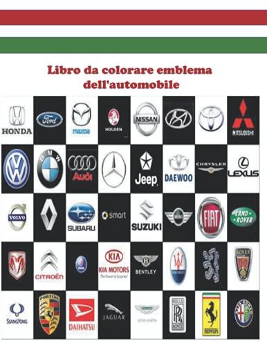 Libro da colorare emblema dell'automobile: Mettiti alla prova! bambini divertenti e attività di colorazione.