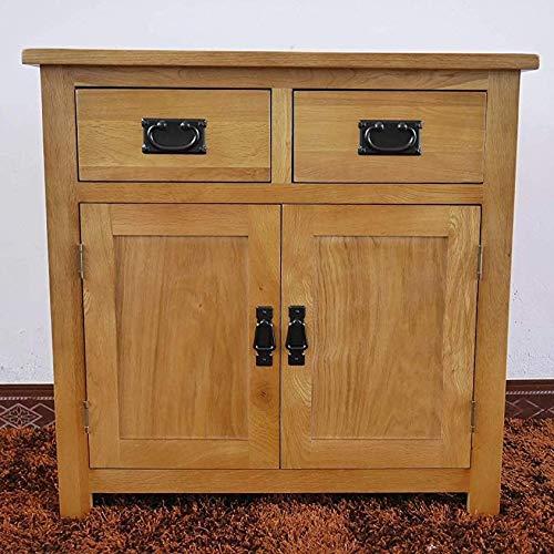Oak Small Sideboard / 2 Door 2 Drawer Mini Sideboard/Living Room Storage (Rustic)
