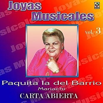 Joyas Musicales: Mariachi, Vol. 3 – Carta Abierta