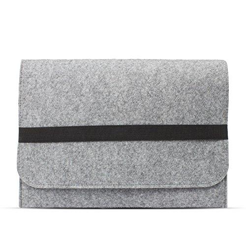 eFabrik Filz Schutzhülle für Sony Vaio Fit Multi-flip 13,3 Zoll (33,7cm) Sleeve Ultrabook Laptop Hülle Soft Cover Hülle Filz hell grau