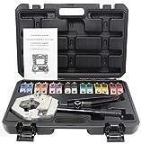 NEWTRY FS-7842 - Juego de herramientas de crimpadora de manguera de mano hidráulica para ...