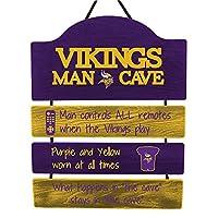 FOCO Minnesota Vikings NFL Mancave Team Logo Man Cave Hanging Wall Sign