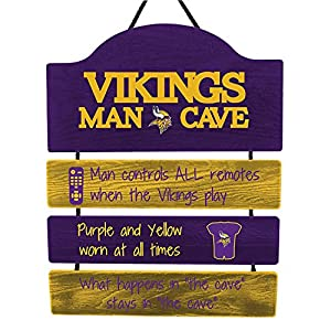 FOCO Minnesota Vikings NFL Mancave Team Logo Man Cave Hanging Wall Sign