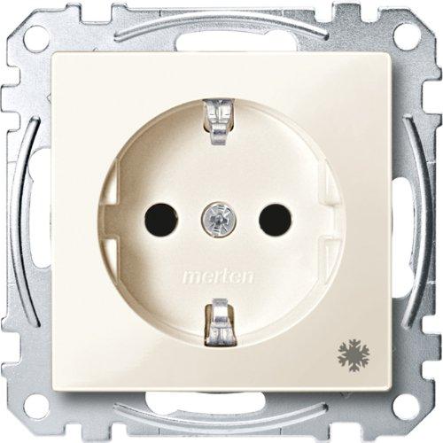 Merten MEG2354-0344 Schuko-stopcontact met aanduiding koelkast, BRS, insteekkl, wit glanzend, systeem M