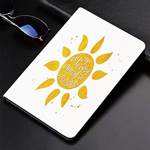Funda para iPad (9,7 pulgadas, modelo 2018/2017, 6.a / 5.a generación) Funda inteligente ultradelgada y ligera, sol, acuarela, inspirada en el verano, fondo punteado, temática navideña, enfermedad vin
