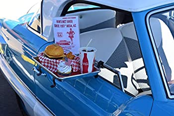 Car Hop Drive-in Diner Tray with Red Rubber Liner for Restaurant Outdoor Dining Car Serving Tray🎄🎄