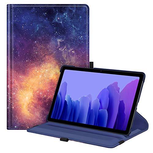 FINTIE Coque pour Samsung Galaxy Tab A7 10.4 2020, Etui de Protection Rotation 360 degrés Housse Fonction Veille/Réveil Automatique pour Tablette Samsung Tab A7 SM-T500/ 505/507, Galaxie