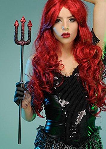 Dark Mermaid Prop Glitter Trident