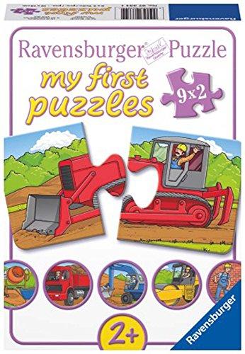 Ravensburger - 07334 - Mes Premiers Puzzles 2P - Engins de Construction