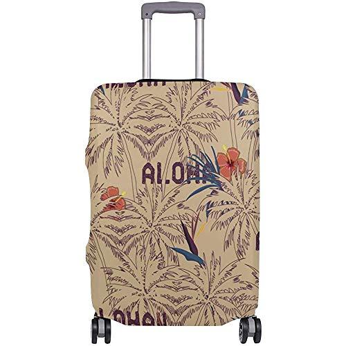 Gepäckraumabdeckung Tropical Aloha Palm Tree Kofferschutz Reisegepäck Größe S